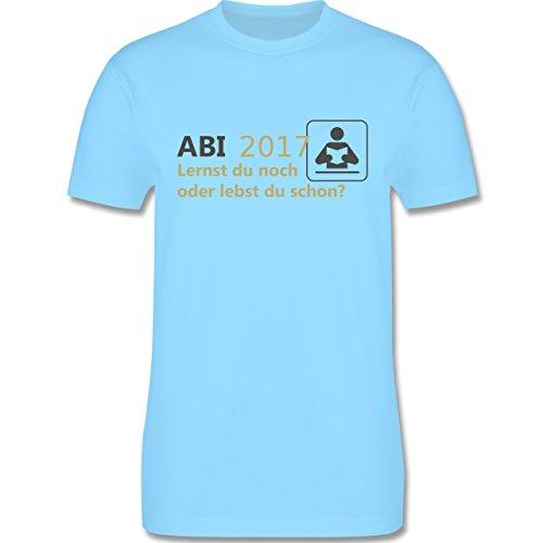 Abi & Abschluss - ABI 2017 - Lernt du noch oder lebst du schon? - Herren Premium T-Shirt Hellblau