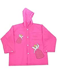 Children's Fairy Princess Design Waterproof Raincoat with Elasticated Hood
