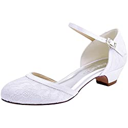 Zapato de novia con encaje - Blanco o Marfil