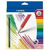 Lyra Osiris Buntstifte, dreikantig, bruchsichere Mine Erwachsene, Wallet von 24–Ideal für Kunst Therapie