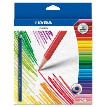 Lyra Osiris Buntstifte, dreikantig, bruchsichere Mine Erwachsene, Wallet von 24–Ideal für...