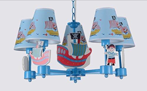 Kinder Schlafzimmer Kronleuchter Scandinavian Boat Jungen Studie pastoral Mittelmeer Mode Persönlichkeit Cartoon-Lampen - 7