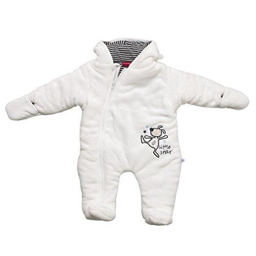 SALT AND PEPPER Baby-Jungen Schneeanzug NB Jumpsuit Little Star, Weiß (Off-White 017), 74