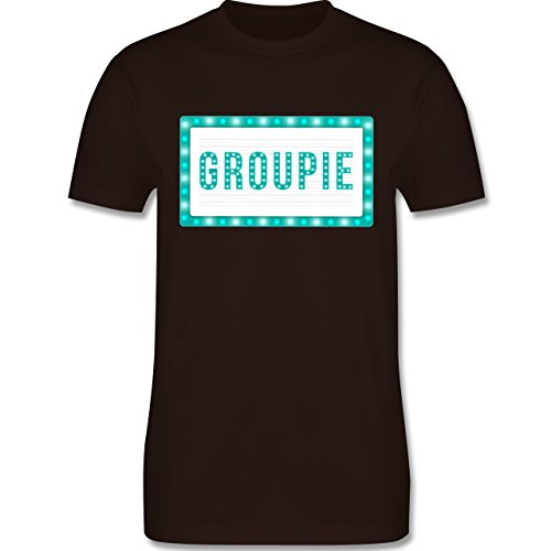 Rock'n'Roll - Groupie - Herren Premium T-Shirt Braun