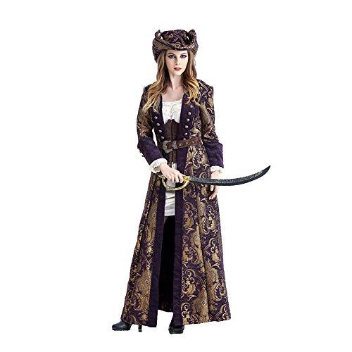 OLKWG Piratenkostüm-Damenpiratenkostüm-Ballkostüm des Weiblichen Piratenkostüms Sexy,M