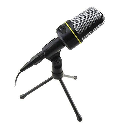 KAXIDY Professionelle Kondensator-Mikrofon Schall Podcast Studio Microphone für PC Laptop Computer