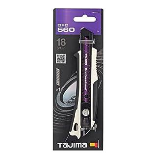 Tajima TAJ-DFC560W Dora FIN Cuttermesser mit RAZAR Black Klinge, mit Schieber und Finne, 18 mm, DFC560W, Non Concerné