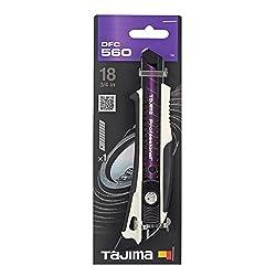 Tajima TAJ-DFC560W DORA FIN Cuttermesser mit RAZAR BLACK Klinge, mit Schieber und Finne, 18 mm, DFC560W, Schwarz/Violett