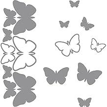 Lateral de Coche Fancy Juego de 8diferentes Romántico Mariposas (20cm x 60cm) Elija el color de 18colores en stock baño, Childs Dormitorio, sala de niños Pegatinas, Vinilo de coches, Windows y adhesivo de pared, pared de Windows Art, adhesivos, diseño de vinilo ThatVinylPlace
