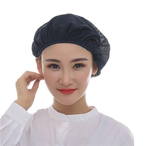 Nanxson 5pcs Unisex Cappucci Maglia Industriale laboratorio Protettivo Lavoro Elastico Cucina cappelli Retina per capelli CF9023 (Marina Militare(Confezione da 5), L)