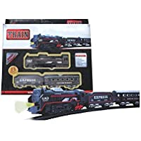 BVM GROUP Train Track Set Black Train Toy Express Train Set with Fun, Interactive, Ready to Play Holiday Model Battery…