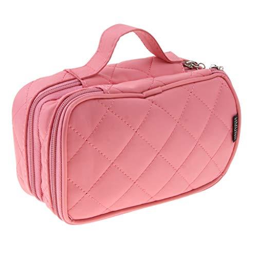 Baoblaze Damen-Kosmetiktasche Make Up Case Reise-Toilettenartikel Veranstalter Vanity Nail Box - Rosa Rosa Vanity Case