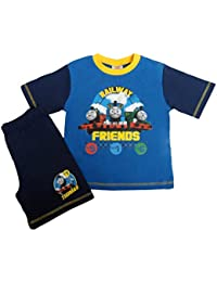 Thomas Tank Engine Railway Friends Blue Pyjama Top Shorts 12 Months - 4 Years