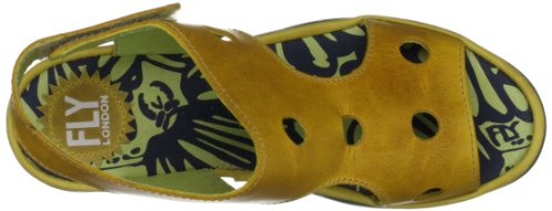 Fly London - Bron, Sandales Habillées Pour Femme Yellow (moutarde)