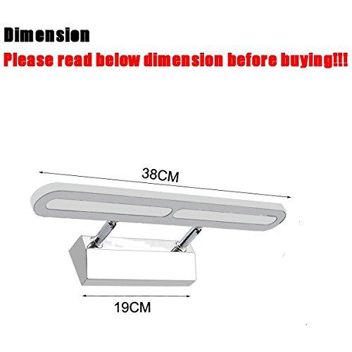 ZHMA 6W LED SMD Lámpara de Pared para Baño Espejo Aplique Luz Acero Inoxidable(Blanca Frío)