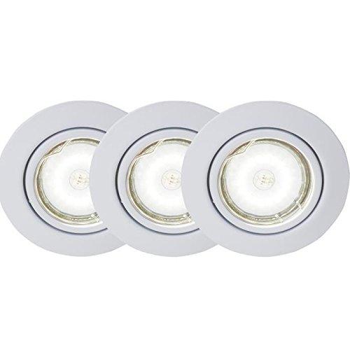 Preisvergleich Produktbild BRILLIANT Kit de 3 spots encastrable orientables LED Honor diametre 9 cm GU10 5W blanc