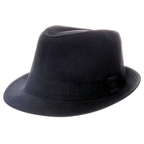 Chapeau Trilby Coton Noir Uni: 59cm