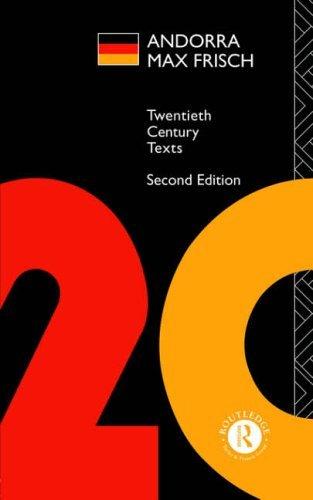 Andorra: Max Frisch (Twentieth Century Texts) by Peter Hutchinson (1994-01-12)