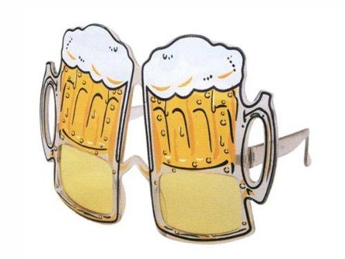 HAAC Bier Brille Bierkrug Bierglas Gag Fun Scherzbrille für Oktoberfest Fasching Karnevall Bierfest