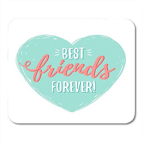 Luancrop Mausunterlage Blaue Beste Freunde BFF für Immer im Herz-Grün-Tag Mousepad für Notizbücher, Tischrechner-Mausunterlagen, Bürozubehöre