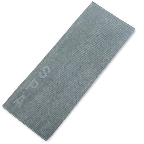aqua-textil Bahamas Saunatuch 80 x 200 cm grau Baumwolle Badehandtuch Frottee Strandlaken Handtuch Duschtuch