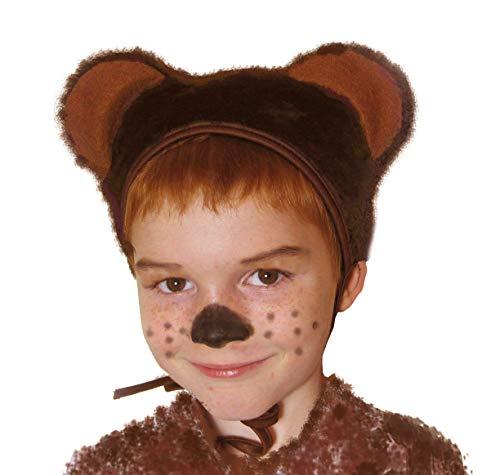 SIA COLLA-S Faschingskostüm Bär Mütze mit Ohren Kinderkostüm Kappe Hut Bär Karneval Kostüme für Kinder Festtage Größe S/M - Bär Hut Kostüm