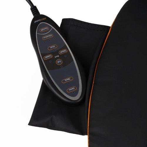 Medisana MCN Shiatsu housse de siège de massage, Massage du Dos, avec plus réglable massage du cou, et commutable lumière rouge et fonction chauffage, massage, pour la relaxation du dos entier - 88930