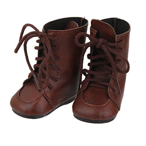 Stiefel Puppenschuhe Mini Schuhe Braun für American Girl Puppen