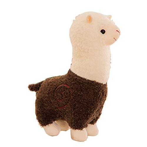(Morbuy Plüsch Spielzeug Stofftier Spielzeug, Netter Alpaka-Lama-Plüsch Spielzeug Doll Lovely Soft Toy Kids Gift,28cm/35cm/45cm (35cm/13.8inch, Braun))