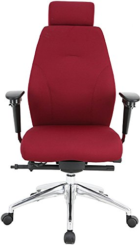 Bargain iTask 24 Hour High Back Ergonomic Office Chair – Wine Reviews