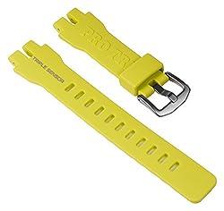 Casio Ersatzband Uhrenarmband Resin Band Gelb Für Prw-3000 Prw-3000t Prw-6000 Prw-6000y 10470459