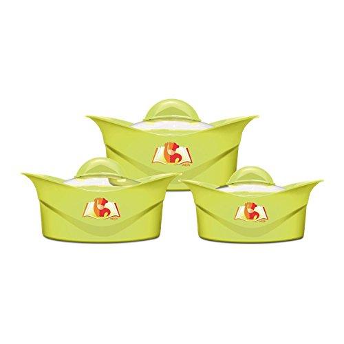 Milton Regalia Glass Lid Casserole Jr Gift Set , Green,(EC-THF-FTK-0064_GREEN)