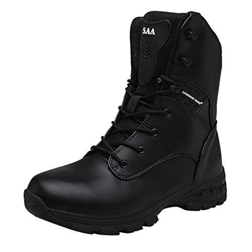 Fascino-M』 Herren Damen Camouflage Schuhe Taktisch Wasserdicht rutschfest Outdoor Sports Laufschuhe Safety Warm Stiefel Hoch Militärstiefel Kampfstiefel Boots -