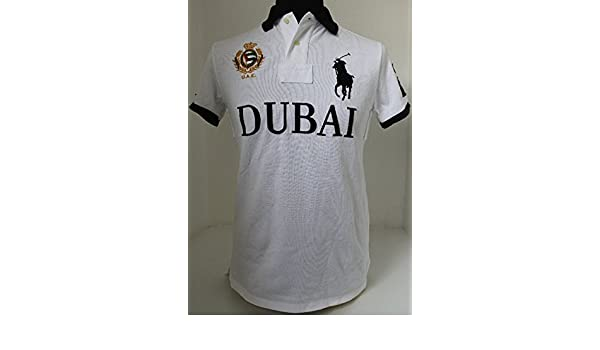 Polo Homme Pony Ralph Big Dubai Uae Fit Lauren Custom Unis Blanc qSGUzMVp