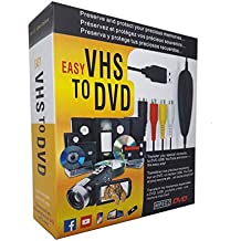 FONCBIEN VHS to Digital Converter - [Actualizar] USB 2.0 Video Audio Grabadora De Captura Adaptador Tarjeta V8 / Vi8 VHS a DVD Convertidor TV DVR VCR CCTV ...