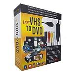 FONCBIEN VHS to Digital Converter - [Actualizar] USB 2.0 Video Audio Grabadora De Captura Adaptador Tarjeta V8 / Vi8 VHS a DVD Convertidor TV DVR VCR CCTV Videocámara a PC para y Windows 10/8