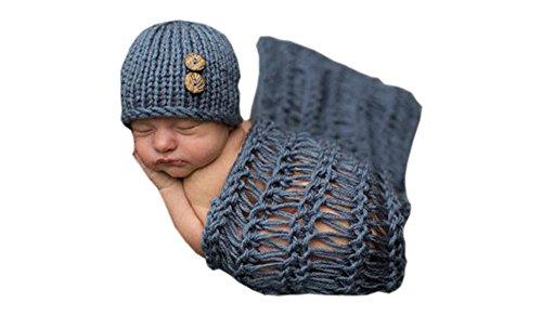 DELEY Unisex Baby Decke Hut Kostüm Kleinkind Kleidung Outfit Häkeln Stricken Foto Requisiten 0-6 Monate
