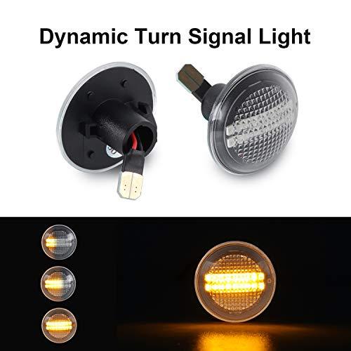Indicateur de miroir Gempro Dynamic Blinker LED Clignotant Indicateur lat/éral fumeur pour YARIS 2011-2014 CAMRY//HYBRID 2011-2014 JPP