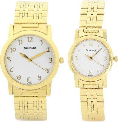 41ZhLRNilzL - Sonata 71178137YM01 Couple watch