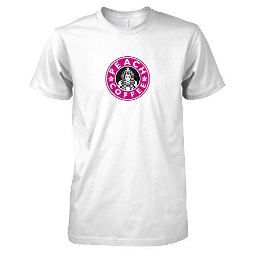 TEXLAB - Peach Coffee - Herren T-Shirt Weiß