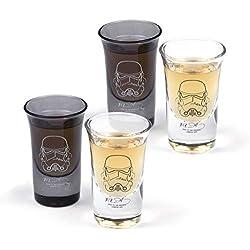 Shepperton Design Original Vasos de chupito Star Wars Stormtrooper, Cristal, Noire, 4,5 x 7,2 x 4,5 cm, 4
