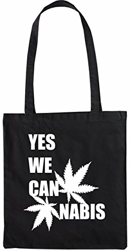 Mister Merchandise Tote Bag Yes we Cannabis Can Borsa Bagaglio , Colore: Nero Nero