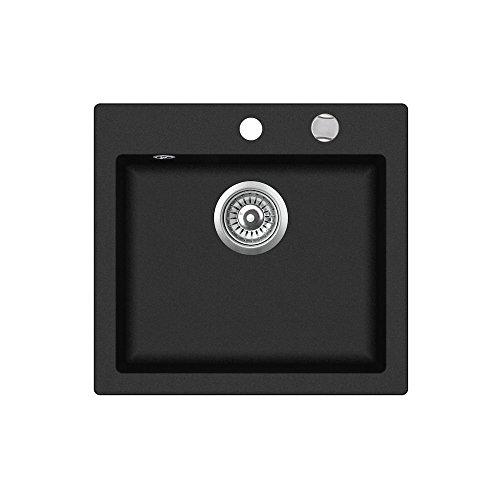 Teka 40148010Tegranit Granit Küche Spüle mit Single Schale von clivo 50s-tq, Metallic Onyx - Onyx-maschine