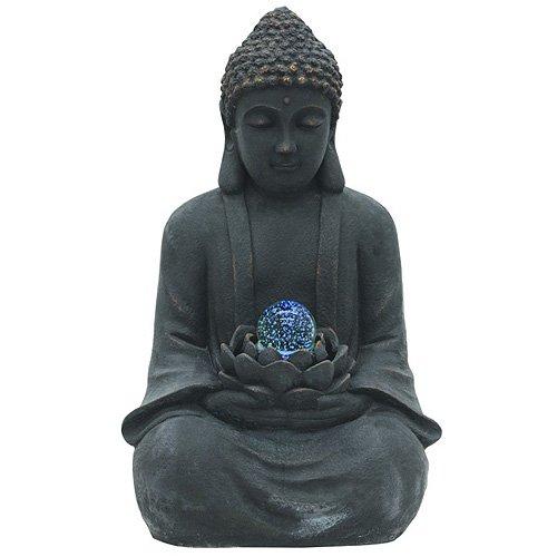 Euro Palms 83309185 Brunnen, Buddha mit Zauberkugel