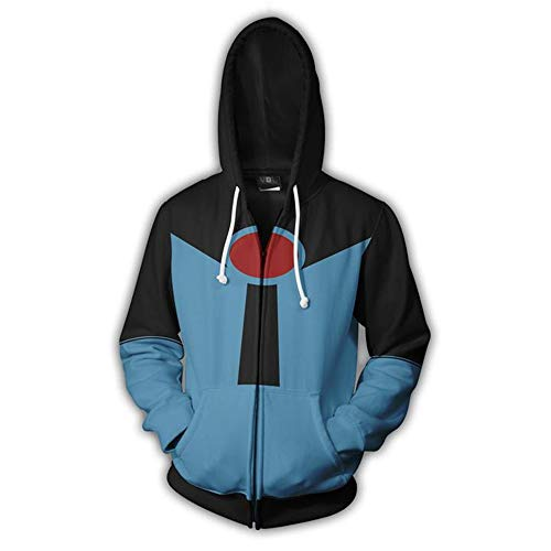 RJHWY 3D Hoodie Sweatshirt Unisex Pullover Kapuzenjacke Kleidung Mantel Reißverschluss The Incredibles XL