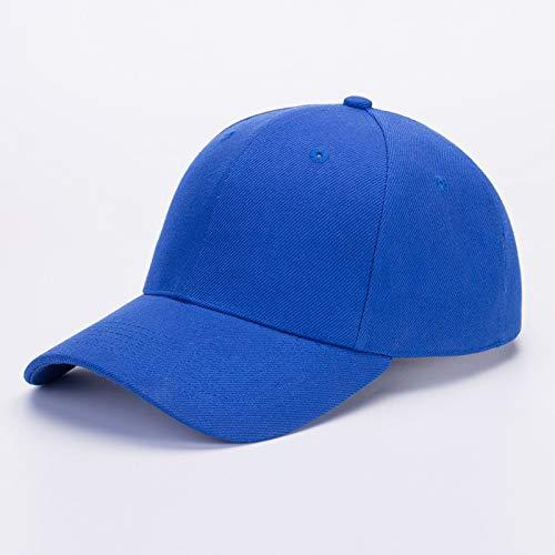 sdssup Bestickter Hut mit Flacher Krempe Koreanische Version der Kappe Baseballmütze Fischerhut Hip-Hop Hip-Hop-Hut blau S (54-56cm)