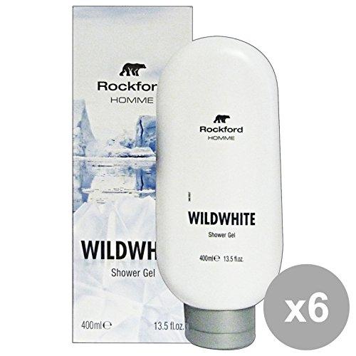 Set 6 Rockford douche homme wildwhite 400 ml. Les savons et cosmétiques