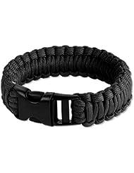 Bracelet en paracorde de survie - noir