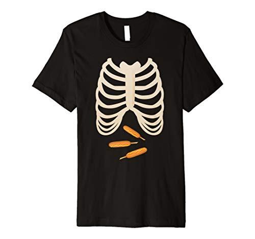 Mais Hunde Fan Liebhaber TShirt Halloween Skelett Brustkorb Xray