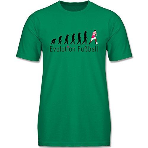 Evolution Kind - Fußball Evolution - 164 (14-15 Jahre) - Grün - F140K - Jungen T-Shirt (Fußball-kinder-t-shirt)